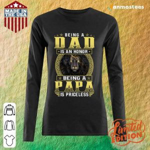 Being A Papa Is Priceless Lion Long-Sleeved