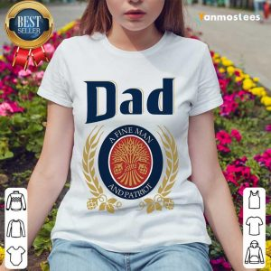 Dad A Fine Man And Patriot Ladies Tee