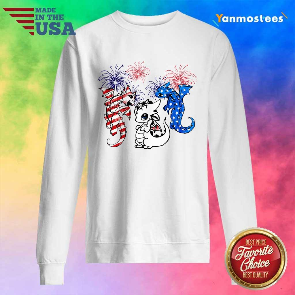 Dragon American Flag And Firework Sweater