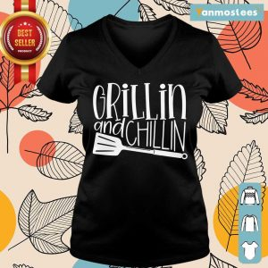 Grillin And Chillin Ladies Tee