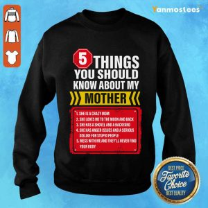 5 Things You Should Know About My Mother Sweater