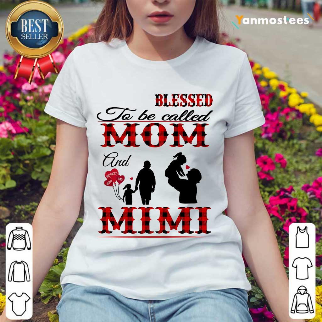 Blessed To Be Called Mom And Mimi Ladies Tee