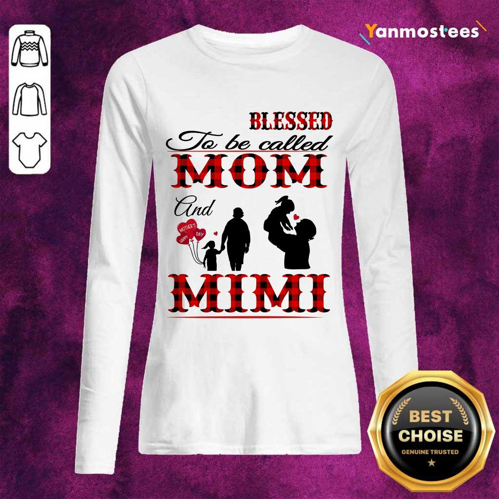 Blessed To Be Called Mom And Mimi Long-Sleeved