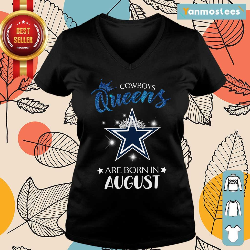 Cowboy Queens Are Born In August Ladies Tee