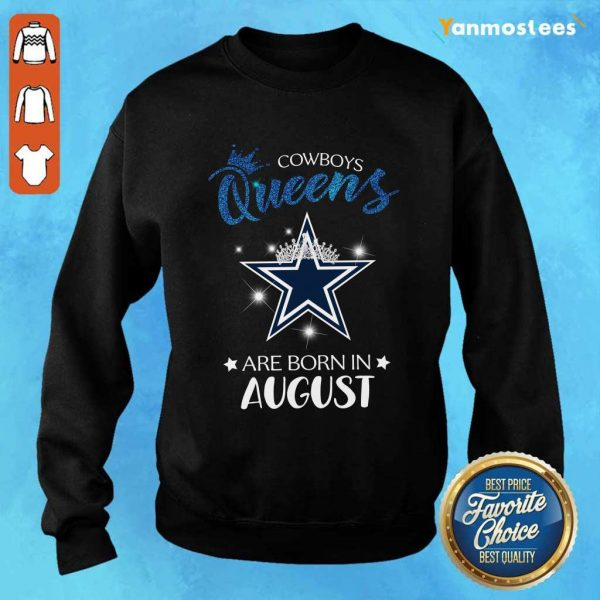 Cowboy Queens Are Born In August Sweater