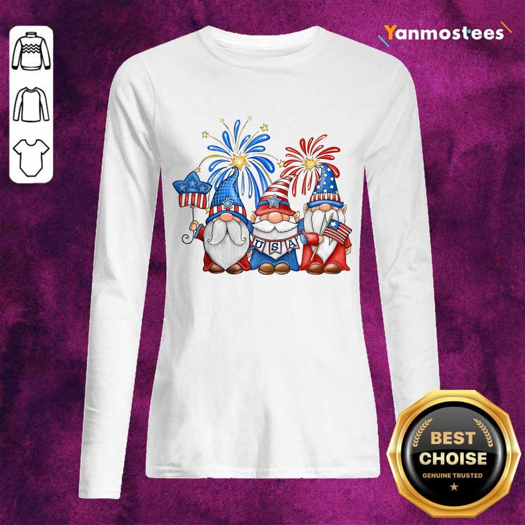 Gnomes Happy Independence Day Long-Sleeved