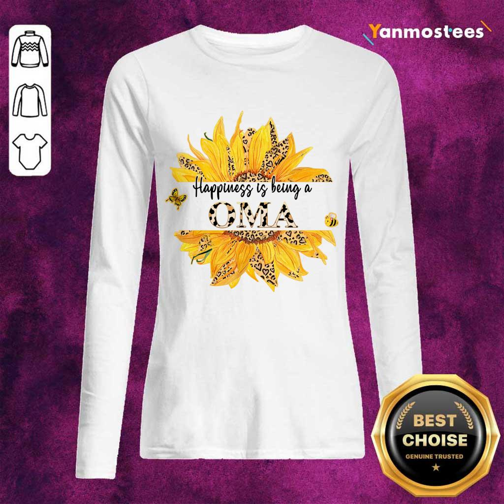 Happiness Is Being A Oma Leopard Sunflower Long-Sleeved