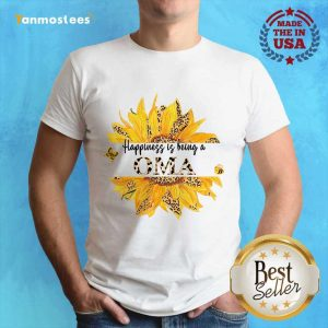 Happiness Is Being A Oma Leopard Sunflower Shirt