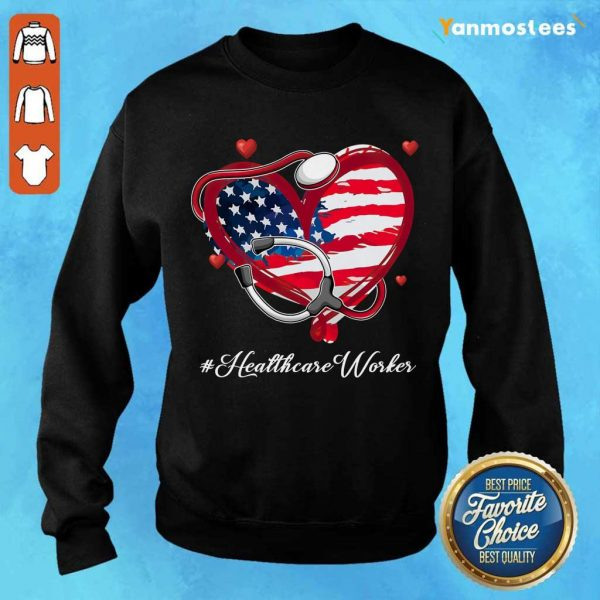 Heart American Flag Healthcare Worker Sweater