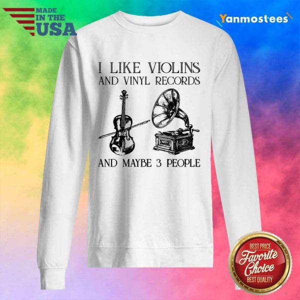 I Like Violins And Vinyl Records Sweater