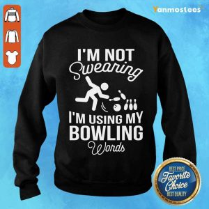 I'm Not Swearing Bowling Words Sweater