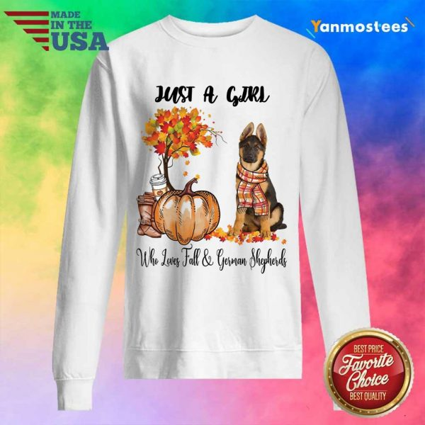 Just A Girl Who Loves Fall And German Shepherd Halloween Sweater