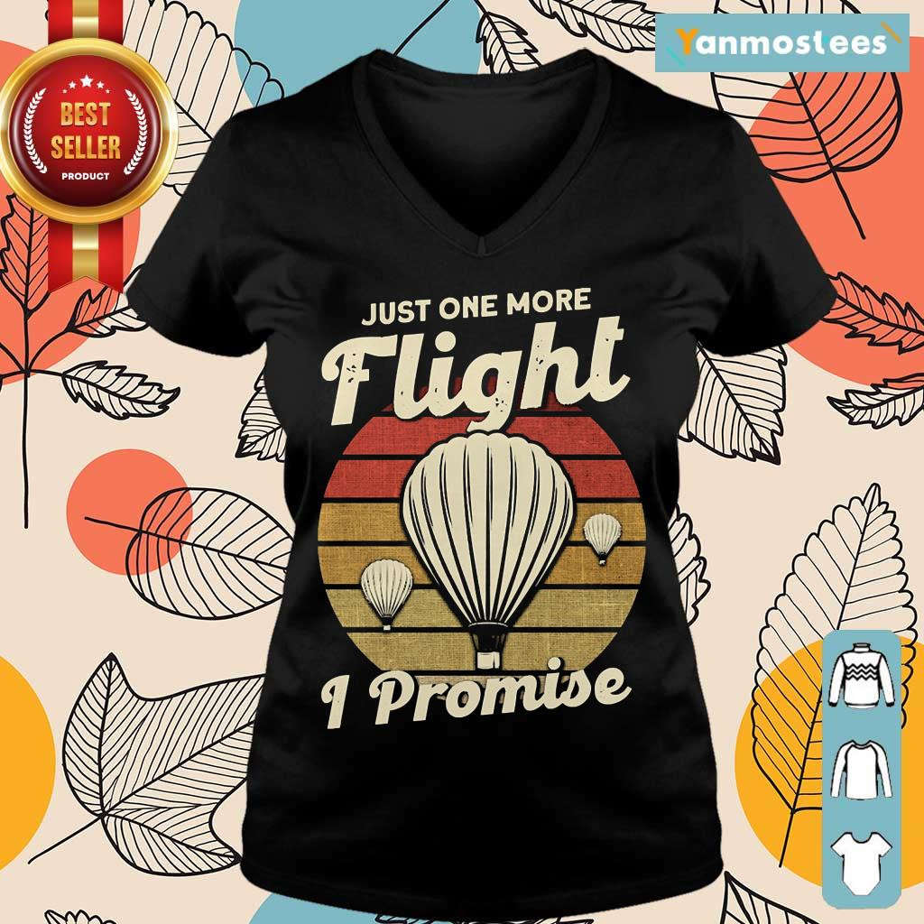 Just One More Fight I Promise Hot Air Balloon Vintage Ladies Tee