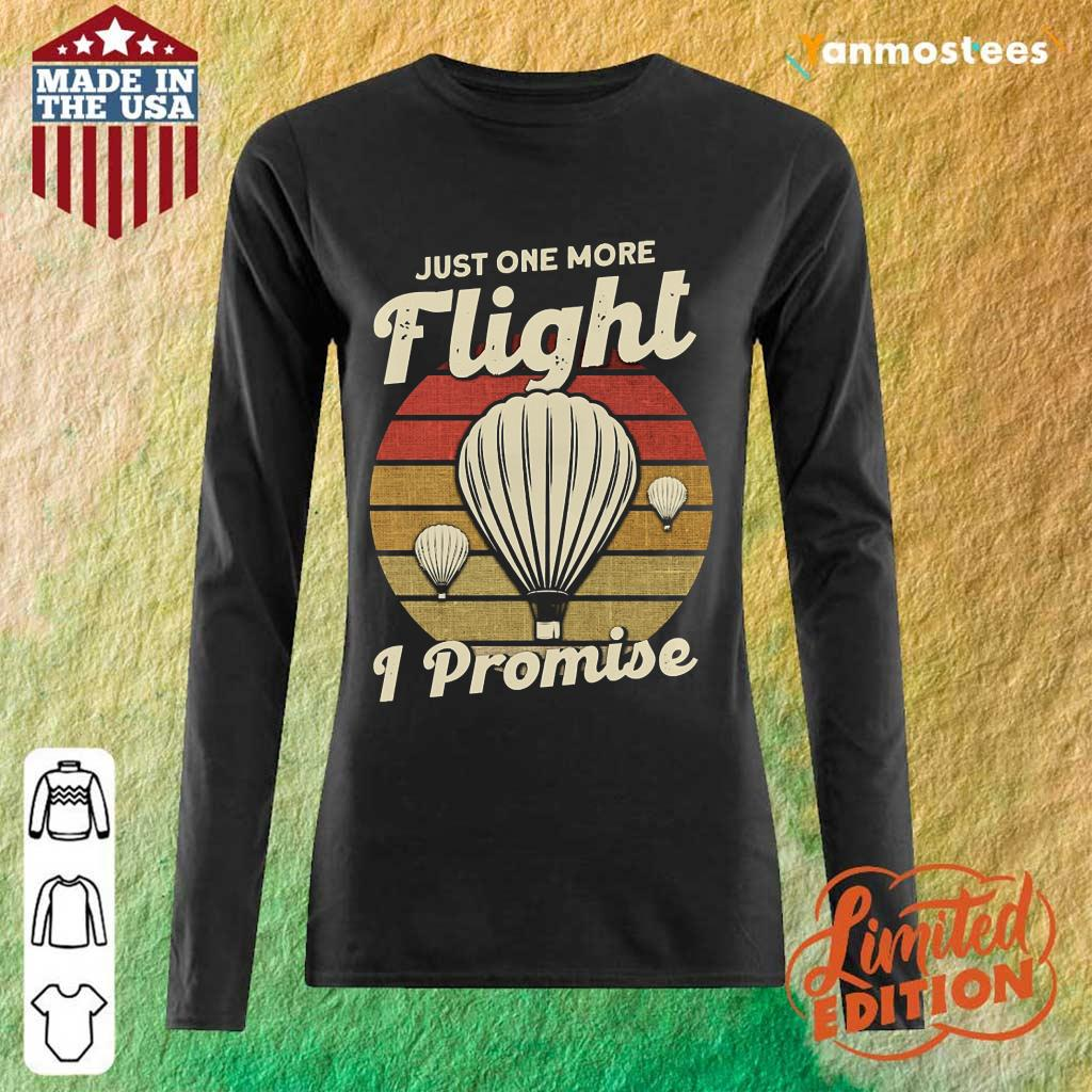 Just One More Fight I Promise Hot Air Balloon Vintage Long-Sleeved