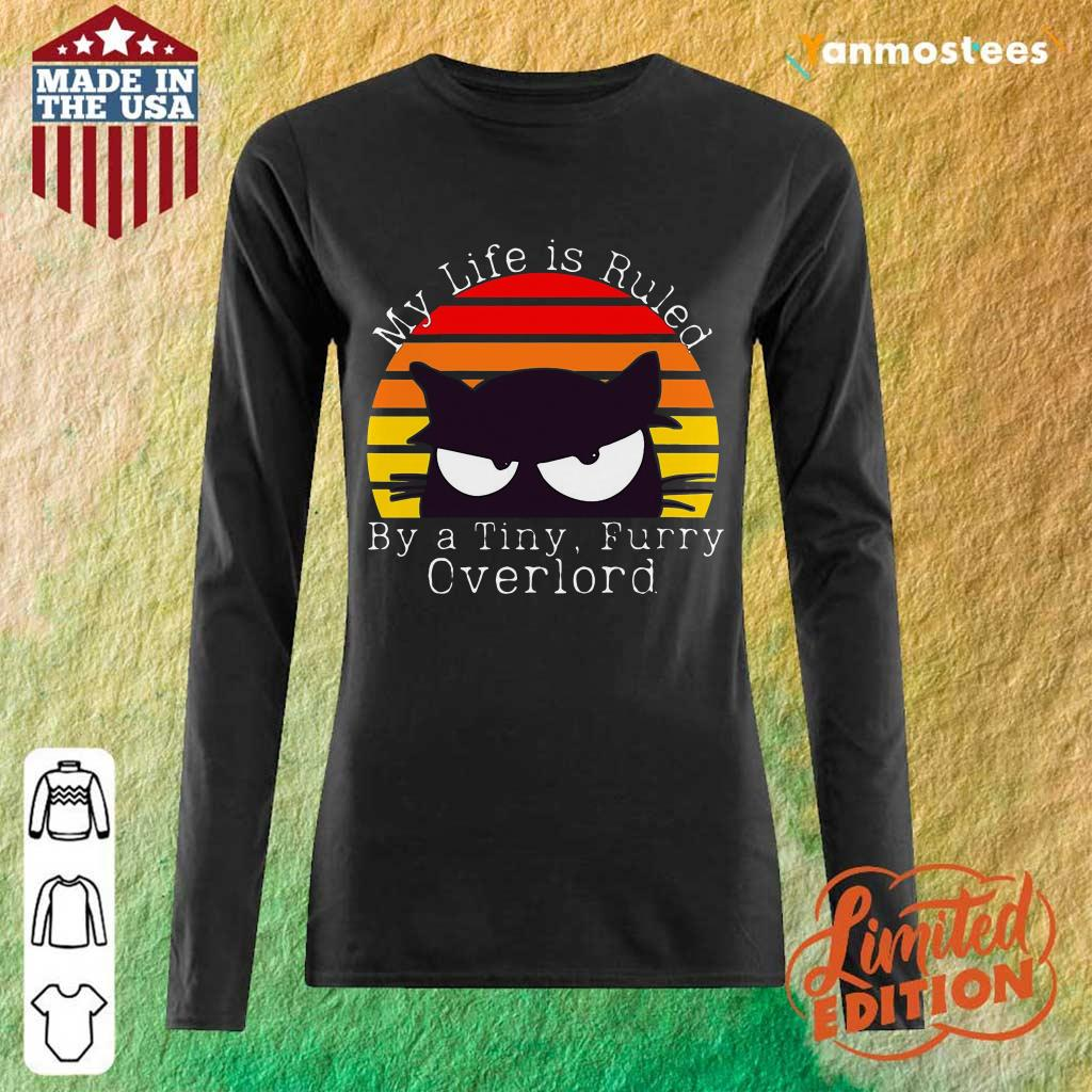 My Life Ruled Overlord Black Cat vintage Long-Sleeved