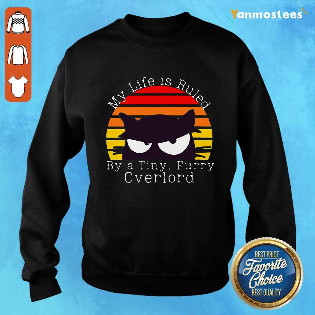 My Life Ruled Overlord Black Cat vintage Sweater