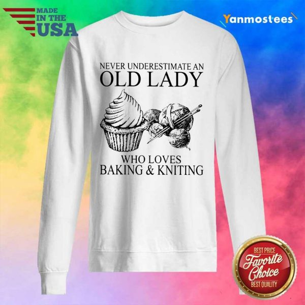 Old Lady Who Loves Baking And Knitting Sweater