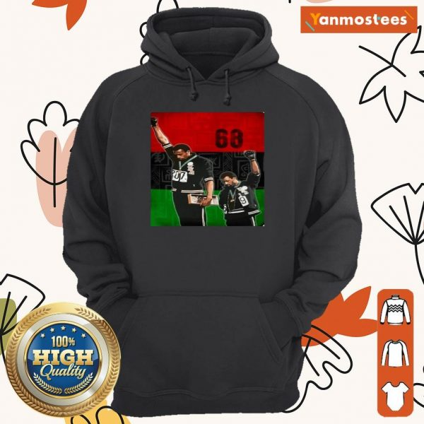 Olympic Rebellion 1968 Colorful Hoodie
