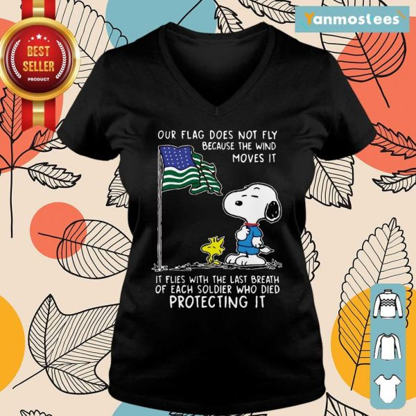 Snoopy And Woodstock Our Flag Does Not Fly Because The Wind Moves It 4th Of July Ladies Tee