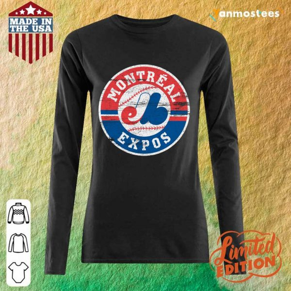Top Montreal Expos 1969 Long-Sleeved