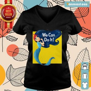 Awesome Mermaid We Can Do It Ladies Tee