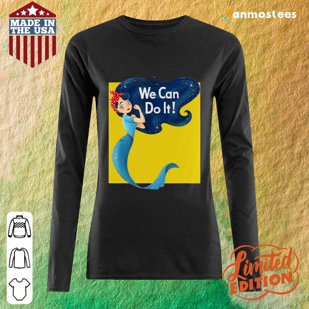 Awesome Mermaid We Can Do It Long-Sleeved