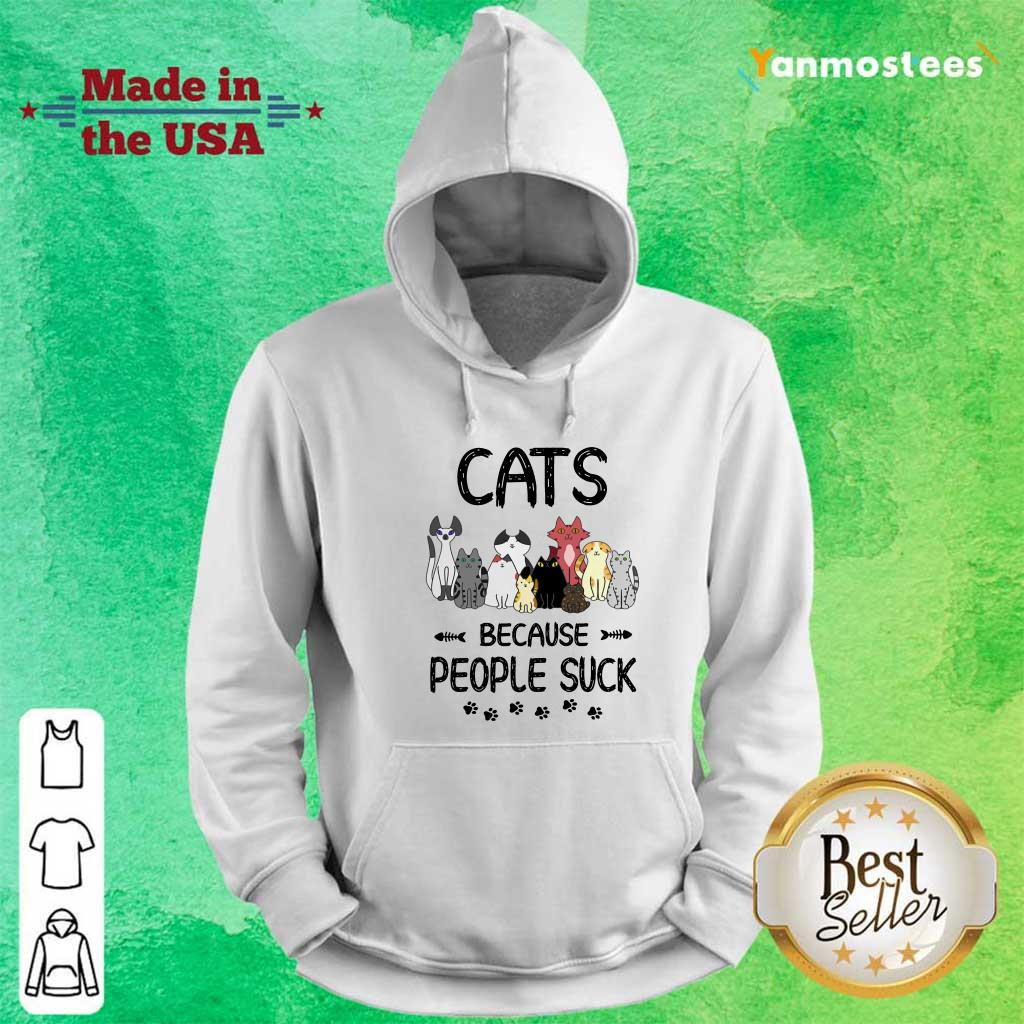 Cats Because People Suck Paw Hoodie