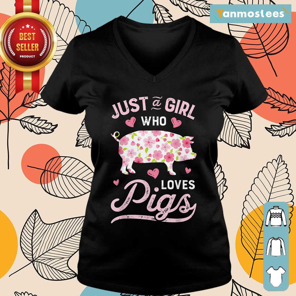 Farmer Life Just A Girl Who Loves Pigs Ladies Tee