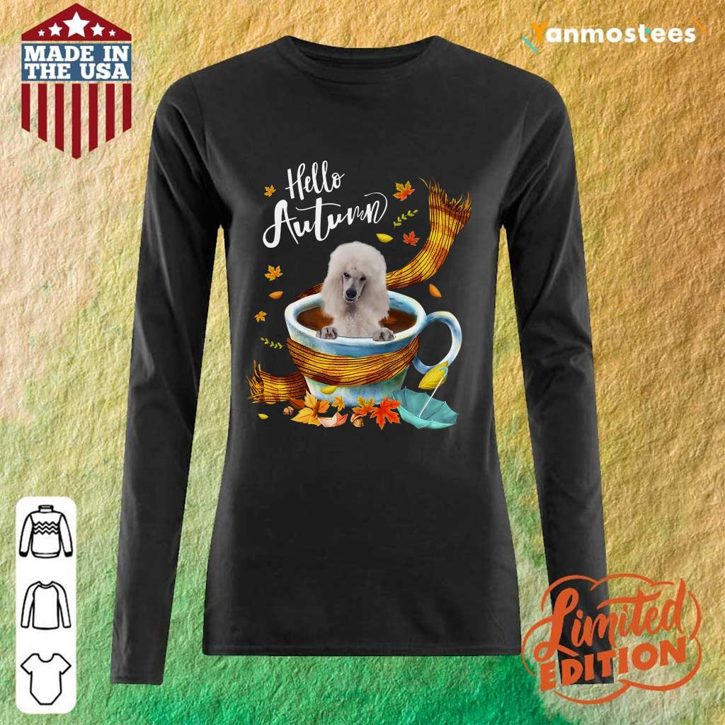 Hello Autumn White Standard Poodle Long-Sleeved
