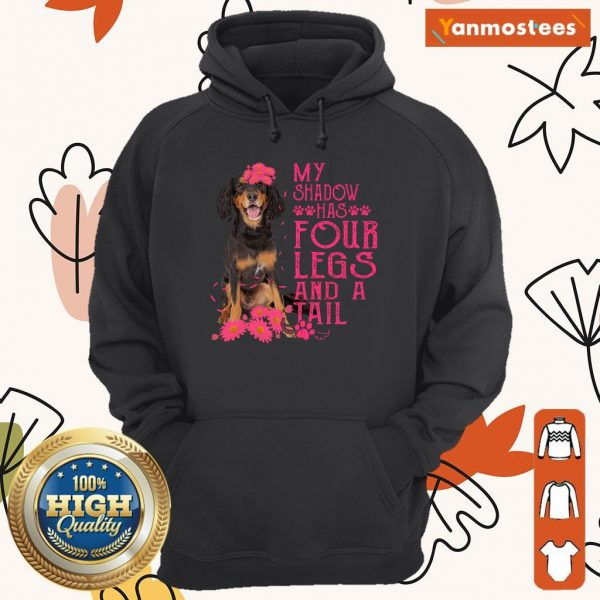 My Shadow Has Four Legs And A Tail Gordon Setter Paw Hoodie