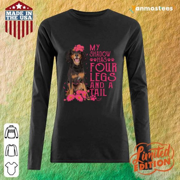 My Shadow Has Four Legs And A Tail Gordon Setter Paw Long-Sleeved