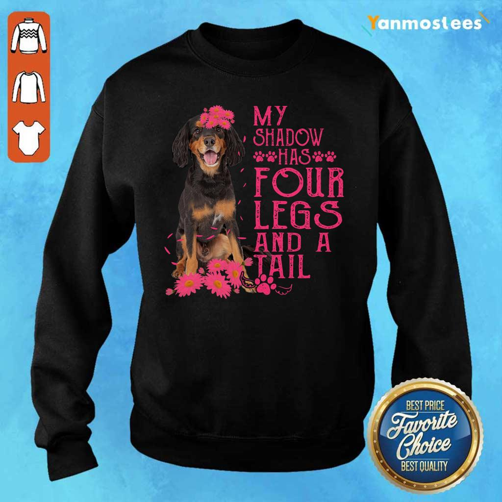 My Shadow Has Four Legs And A Tail Gordon Setter Paw Sweater