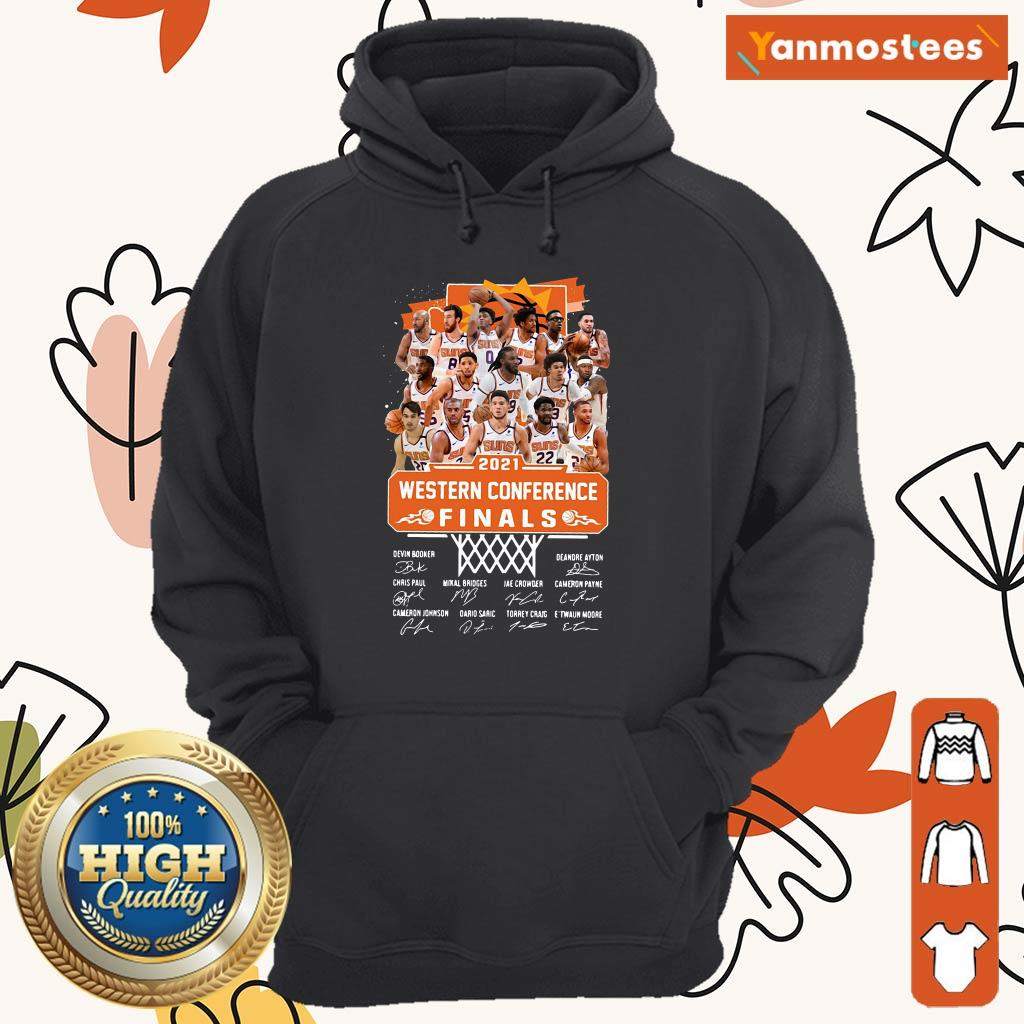Phoenix Suns 2021 Western Conference Finals Signatures Hoodie