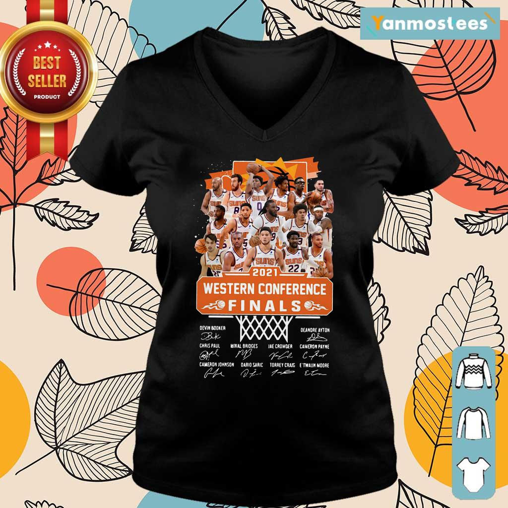 Phoenix Suns 2021 Western Conference Finals Signatures Ladies Tee