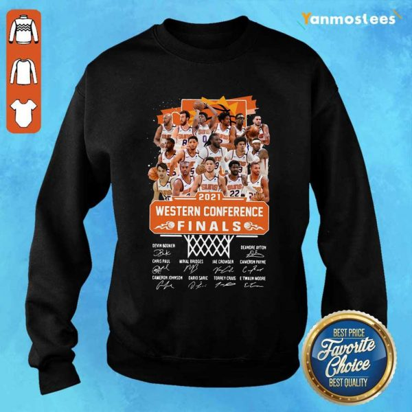 Phoenix Suns 2021 Western Conference Finals Signatures Sweater