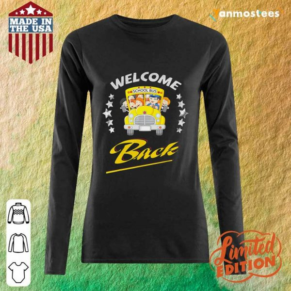 Star School Bus Welcome Back To School Long-Sleeved