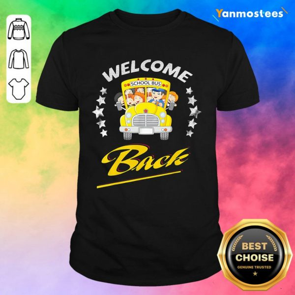 Star School Bus Welcome Back To School Shirt