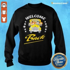 Star School Bus Welcome Back To School Sweater