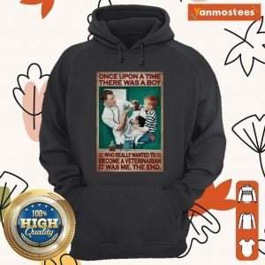 There Was A Boy Who Really Wanted To Become A Veterinarian Hoodie