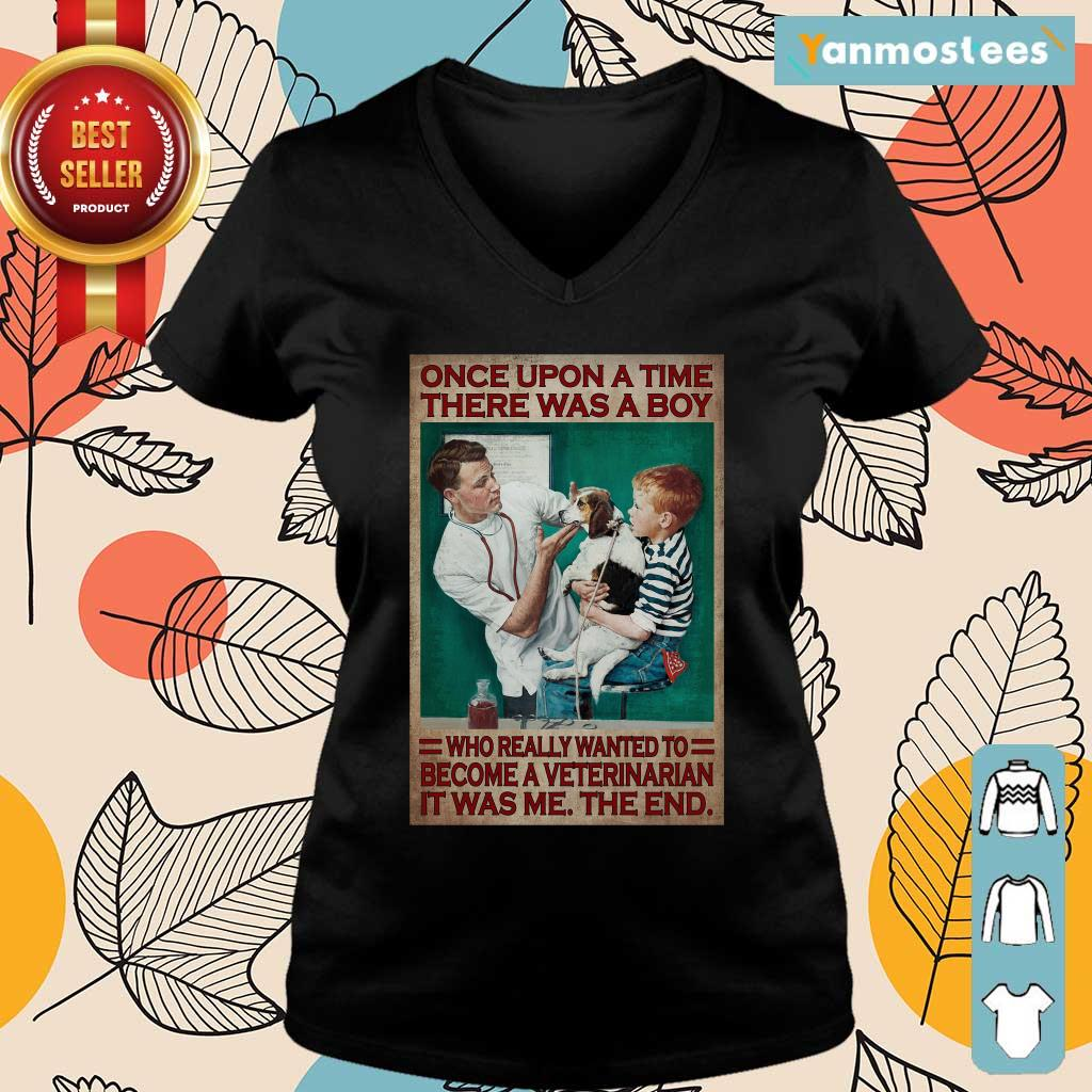 There Was A Boy Who Really Wanted To Become A Veterinarian Ladies Tee