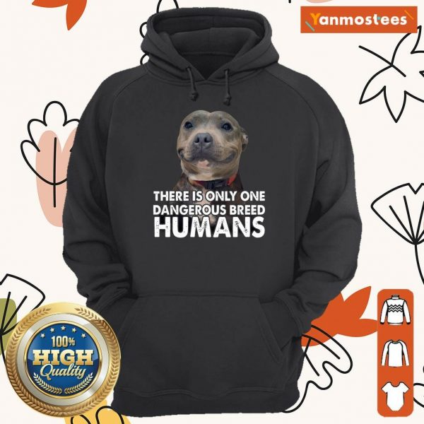 Vip Pitbull There Is Only One Dangerous Breed Humans Hoodie