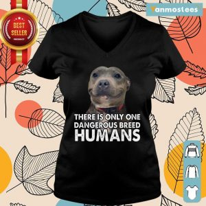 Vip Pitbull There Is Only One Dangerous Breed Humans Ladies Tee