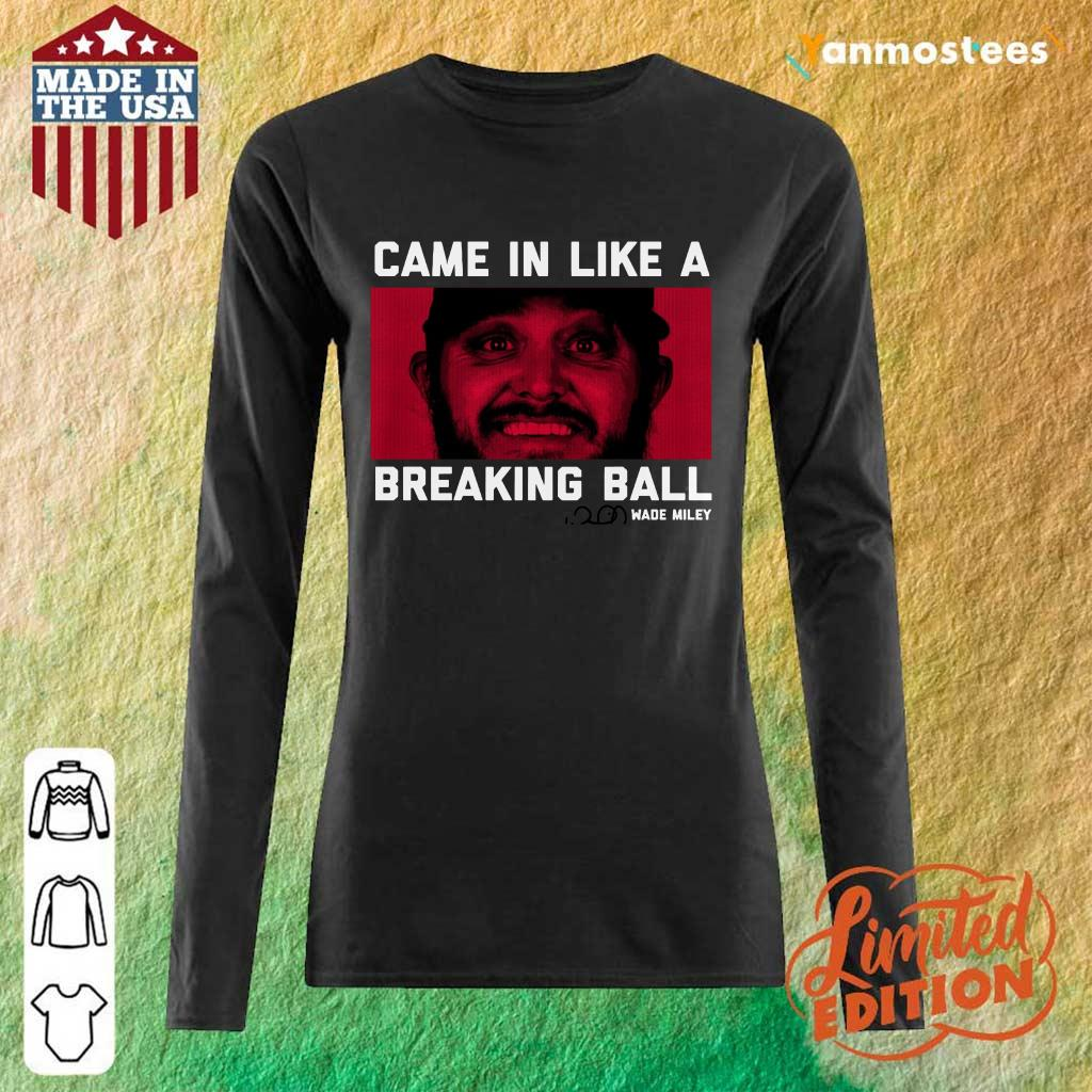 Wade Miley Came In Like A Breaking Ball Long-Sleeved