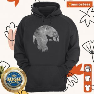 Wirehaired Pointing Griffon And Moon Halloween Hoodie