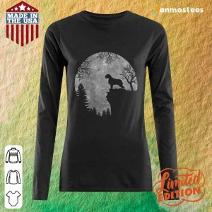 Wirehaired Pointing Griffon And Moon Halloween Long-Sleeved