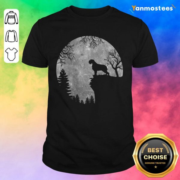 Wirehaired Pointing Griffon And Moon Halloween Shirt