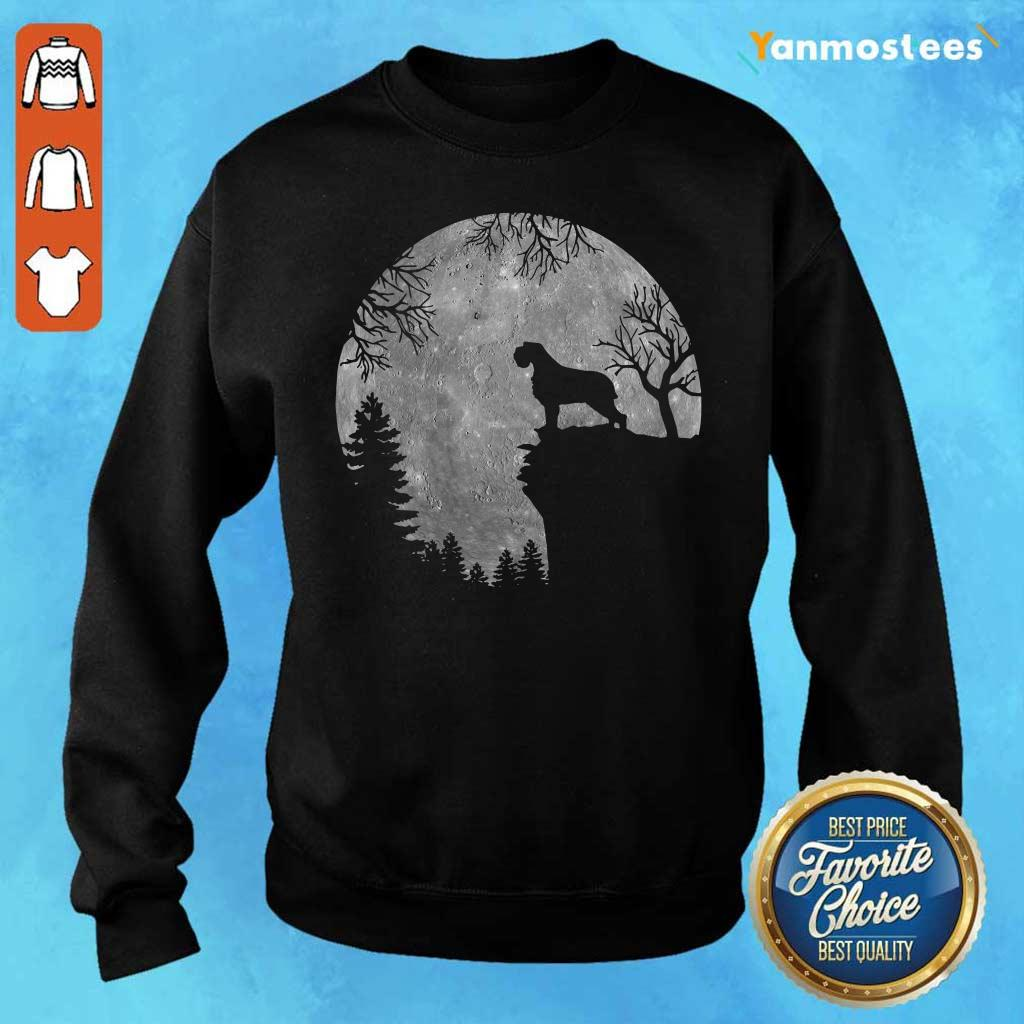 Wirehaired Pointing Griffon And Moon Halloween Sweater