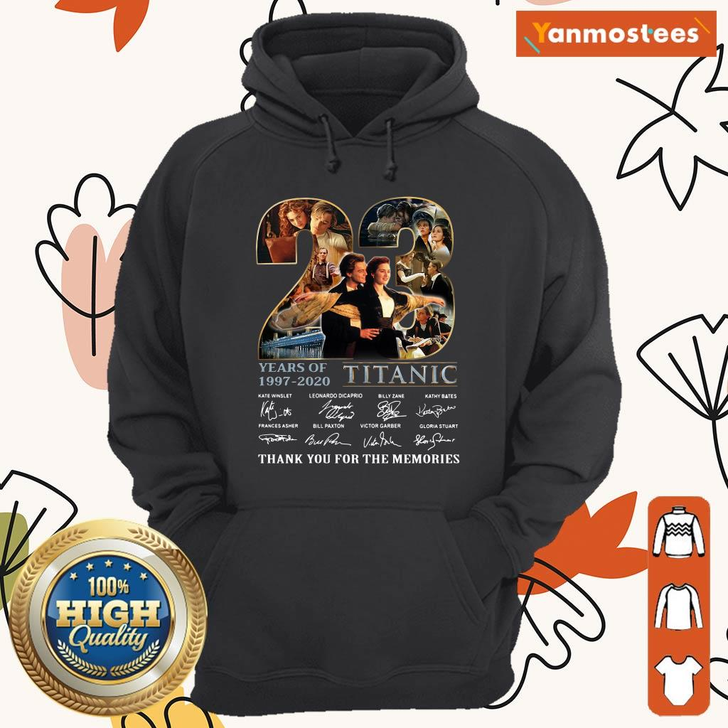 23 Years Of 1997 2020 Titanic Thank You For The Memories Signatures Hoodie