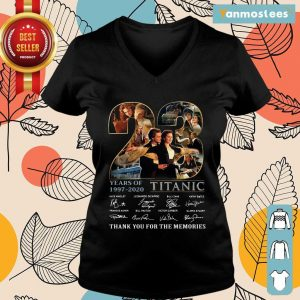 23 Years Of 1997 2020 Titanic Thank You For The Memories Signatures Ladies Tee