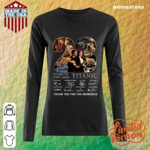 23 Years Of 1997 2020 Titanic Thank You For The Memories Signatures Long-Sleeved